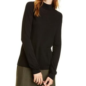 Vince Seamless Wool Cashmere Mock Neck Sweater XXS